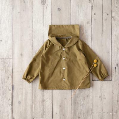 カーキグリーン セーラーシャツ