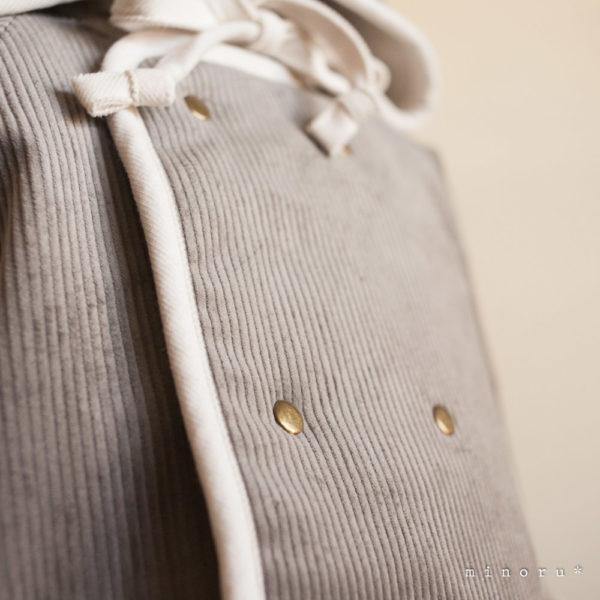 小人コートセット グレー(90/100) 小人帽子とノーカラーコートのセットアップ