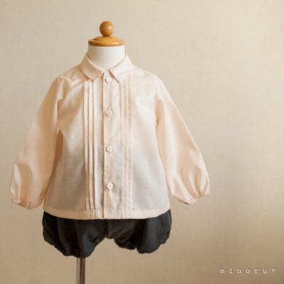 淡いサーモンピンク ドレスシャツ(80/90/100)