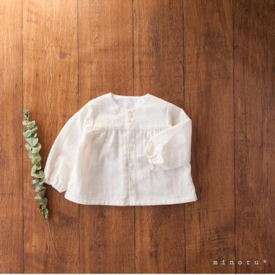 ダブルガーゼ さいしょのシャツ 生成り