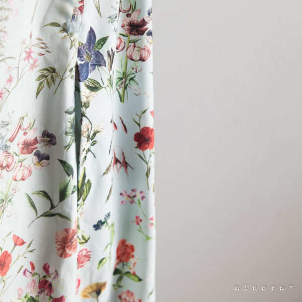FLORAL FLOWER ティアードワンピース LALA CloveR. × minoru*コラボ