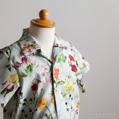 FLORAL FLOWER 開襟シャツ(80-120)|LALA CloveR. X minoru*コラボ
