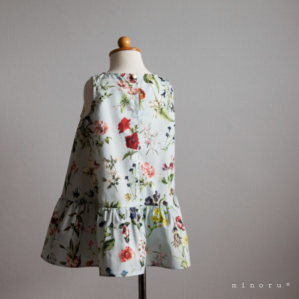 FLORAL FLOWER ティアードワンピース(80-120)|LALA CloveR. X minoru*コラボ