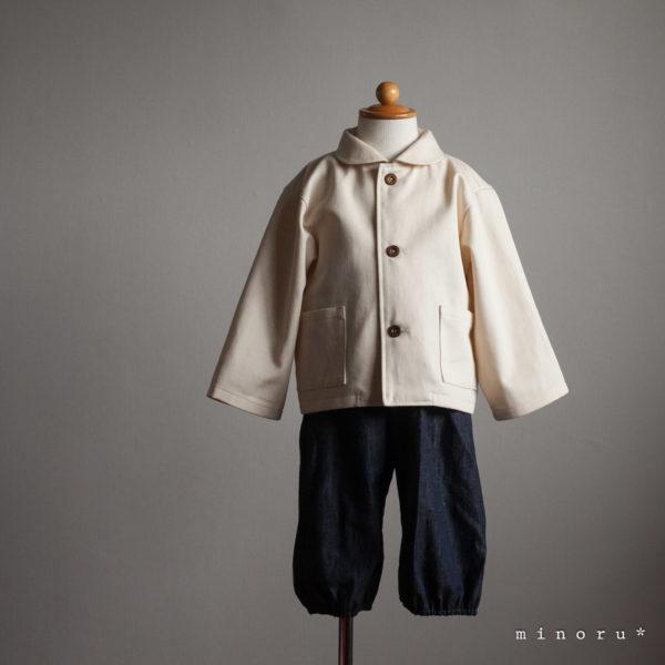 丸襟 ジャケット 生成り 90cm