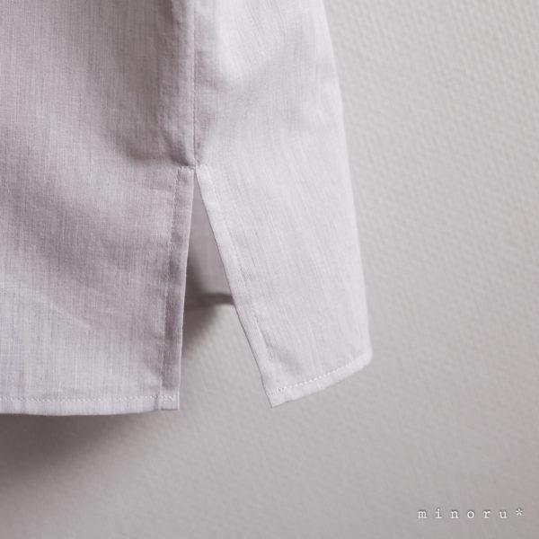 お揃いセット スモックシャツ 杢グレー (110/Free)