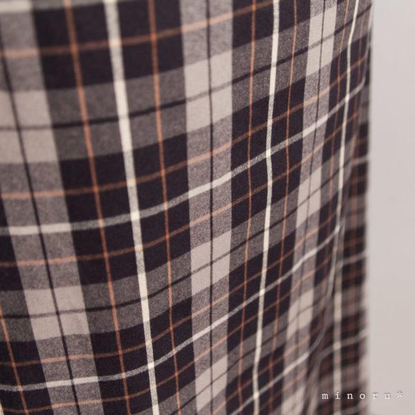 お揃いセット フレアスカート、ハーフパンツ(80-120) 起毛コットン チェック